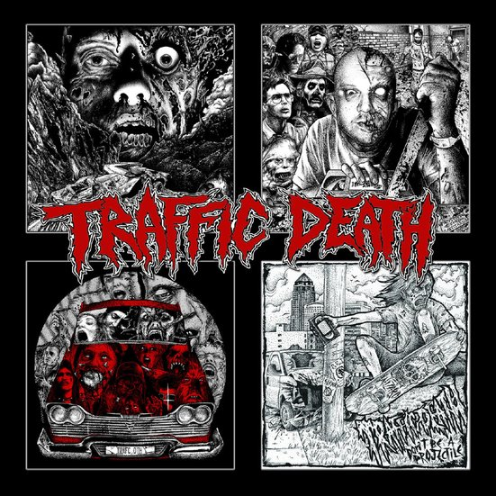 TRAFFIC DEATH - Four disc pile-up